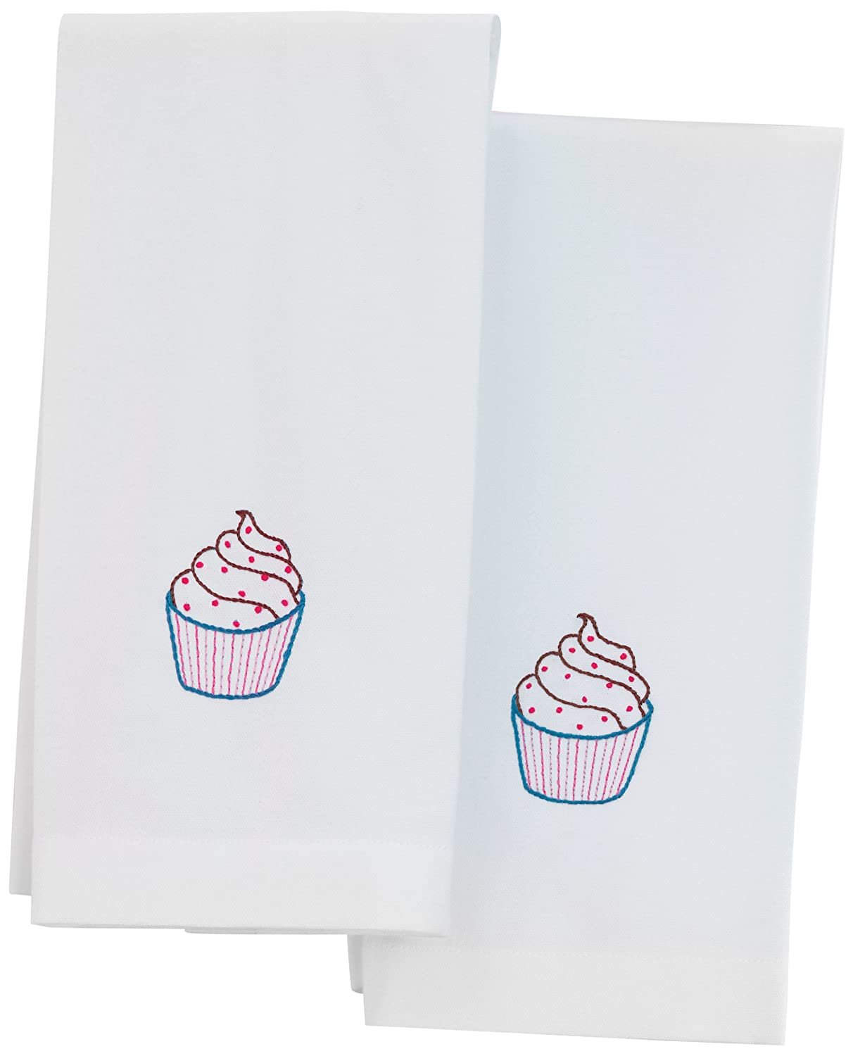 Martha Stewart Crafts Tea Towels, Cupcake