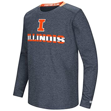 hot sales bc7d3 fcda9 Illinois Fighting Illini Colosseum Youth Steff Waffle L S Shirt (X-Small).  Roll over image to ...