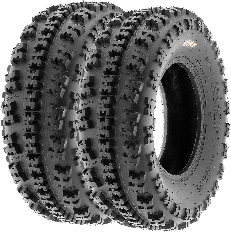 Set of 4 SunF A027 XC 22x7-10 Front /& 18x10.5-8 Rear ATV UTV Knobby Sport Tires 6 PR Tubeless