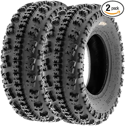 Set of 2 SunF A027 XC ATV UTV Knobby Sport Tires 23x7-10 6 PR Tubeless