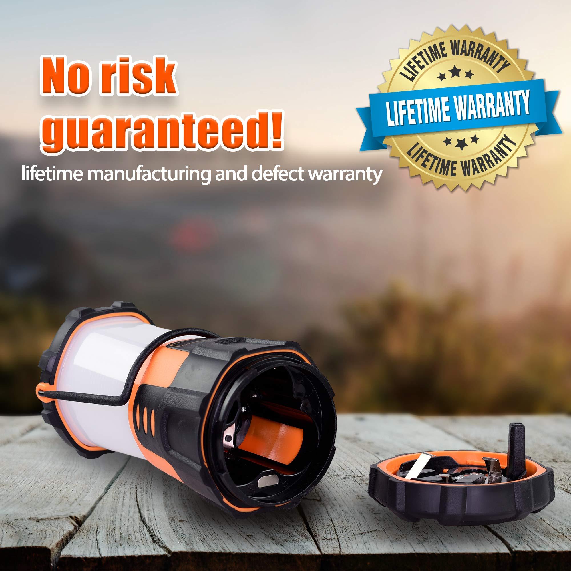 Blazin' Fireball | Brightest Lanterns Battery Powered | LED Hurricane Lantern | Emergency, Storm, Camping Torch | Battery Operated Lights | 1000 Lumen Lantern by Blazin' Bison (Image #8)