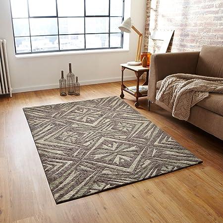 Desirica Jacquard Woven Modern Design Polycotton Carpet - Multicolour Rugs at amazon