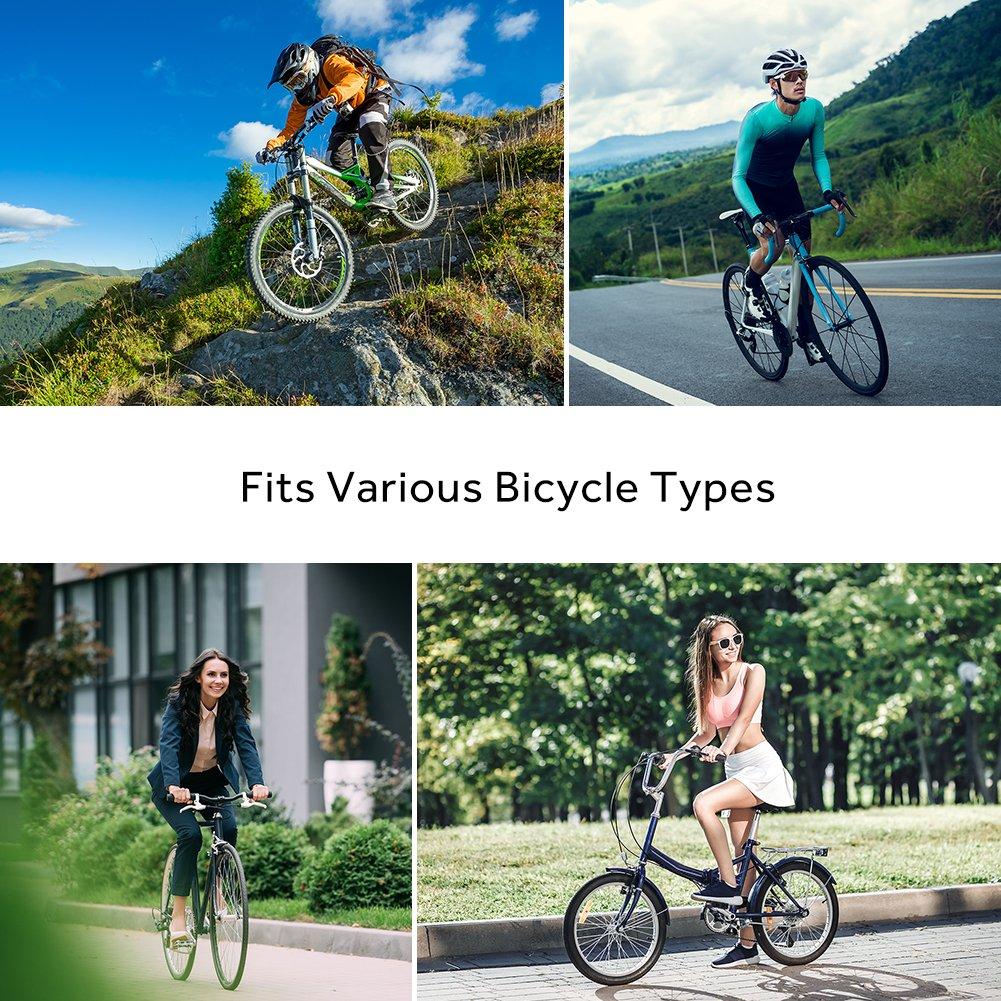 Terra Hiker New Pédales Vélo Route VTT BMX MTB, Pédales Plates en Alliage Aluminium à Double Roulement Scellé 9/16\