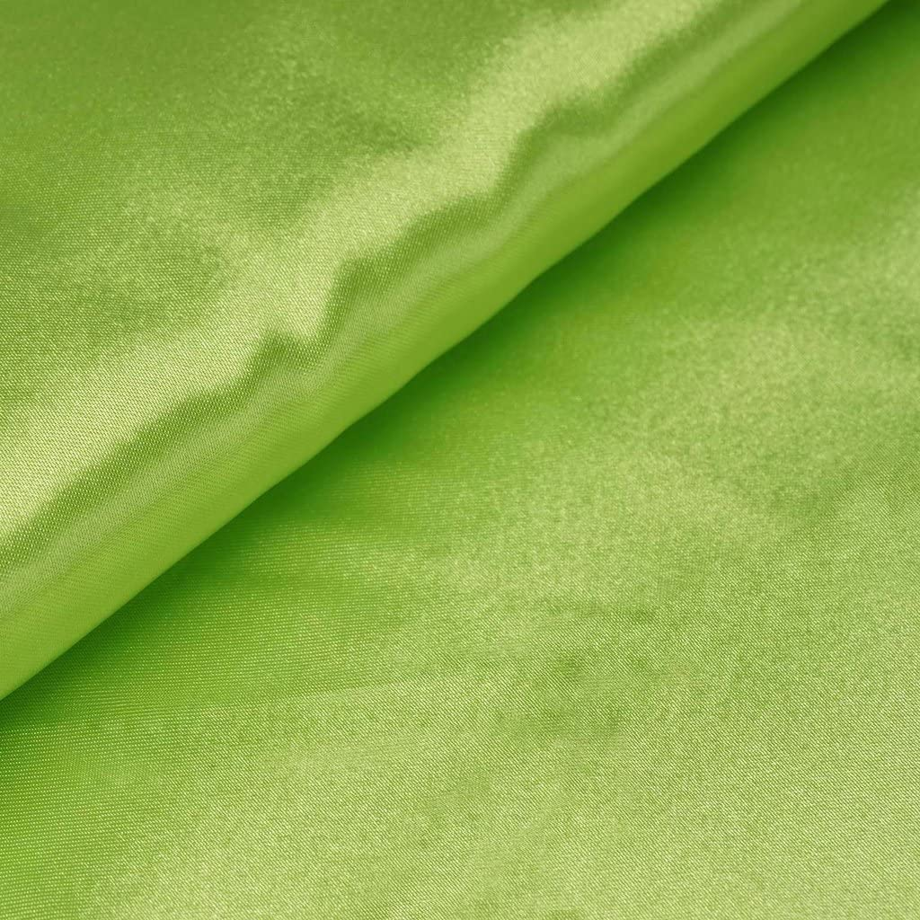 BalsaCircle 54-Inch x 10 Yards Apple Green Satin Fabric by The Bolt - Wedding Party Decorations Sewing DIY Crafts Costumes