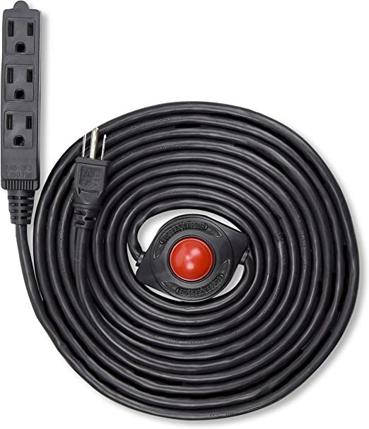 Do it  Extension Cord With 3-Outlet Light Switch And Indicator Light 15/'