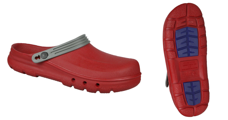 CEYO Sabotech Women's Clog w/Steel Toe & Back Strap 37-38 (EU)/6.5-7.5 (US) Red