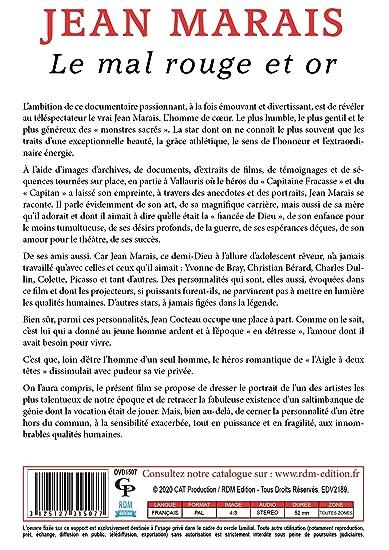 Jean marais, le mal rouge et or [Francia] [DVD]: Amazon.es ...