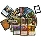 MTG Power Pack 100 Assorted Magic Cards - 10 Mythics, 60 Rares, 25 Foils & 5 Planeswalkers - Gather Official Magic: The Gathering Trading Cards - Comes with Plastic Storage Gift Box