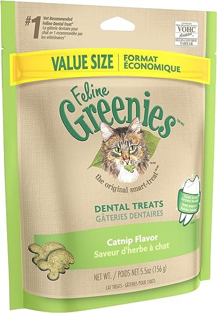 Amazon Com Feline Greenies Natural Dental Care Cat Treats Catnip