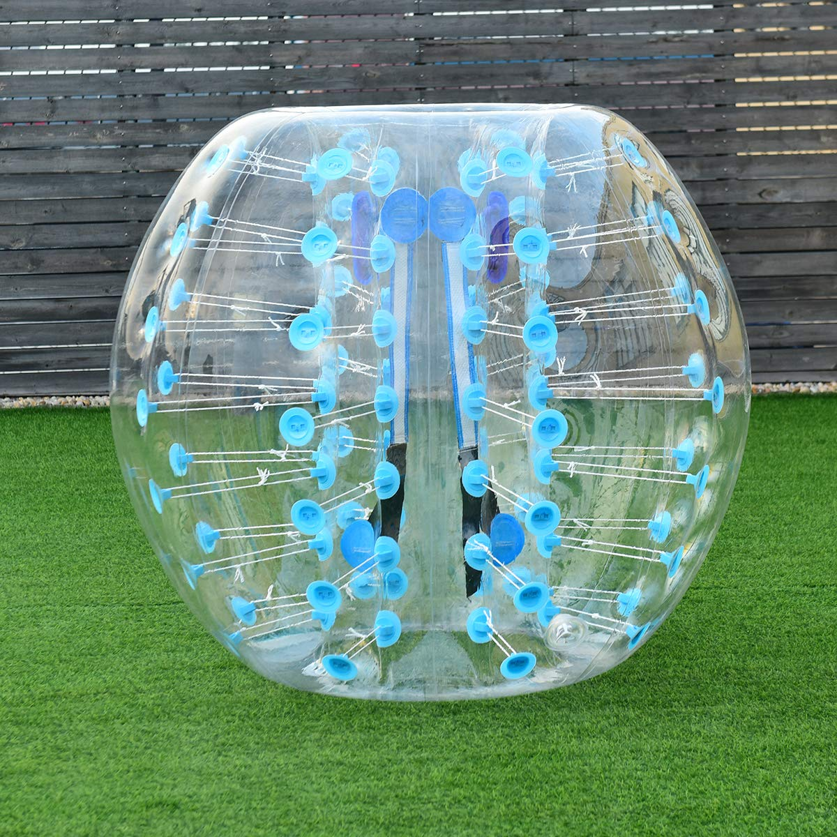Costzon Inflatable Bumper Soccer Ball, Dia 5ft (1.5m) Giant Human Hamster Bubble Ball, 8mm Thickness Transparent PVC Zorb Ball for Kids, Teens Outdoor Team Gaming Play (Light Blue) by Costzon (Image #9)
