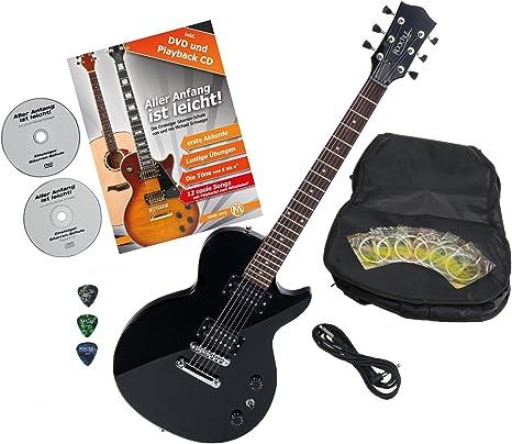 Rocktile L-100 BL guitarra eléctrica Black con accesorios: Amazon.es: Instrumentos musicales