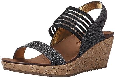 Skechers SandalenSandaletten, Farbe Schwarz, Marke, Modell