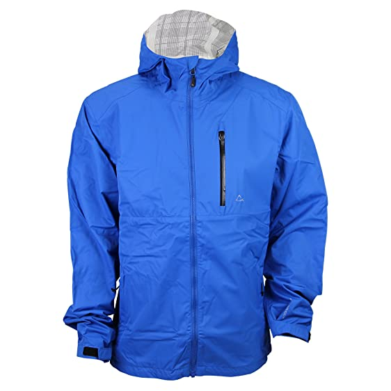 Paradox Men's Waterproof Breathable Rain Jacket (Large, Cobalt ...