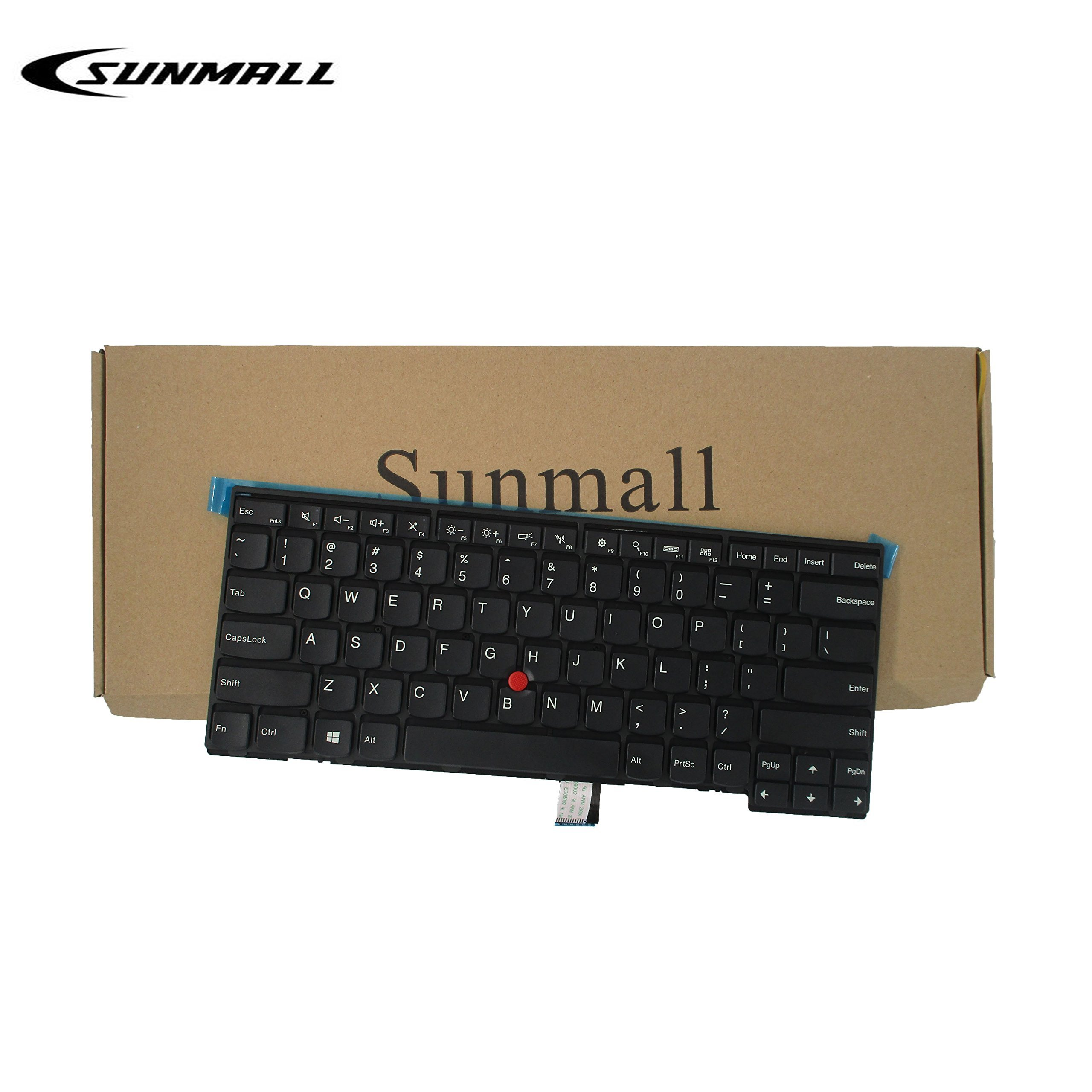 SUNMALL Keyboard Replacement with Frame for Lenovo ThinkPad T431 T431S E431 T440 T440P T440S E440 L440 T450 T450S T460 T460P L450 T440E Series Laptop US Black Layout(6 Months Warranty) ... by SUNMALL