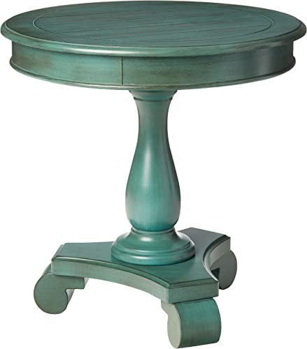 OSP Home Furnishings Avalon Hand Painted Round Accent Table