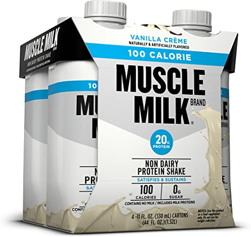 Muscle Milk 100 Calorie Protein Shake, Vanilla Cr me, 20g Protein, 11 FL OZ, 4 count