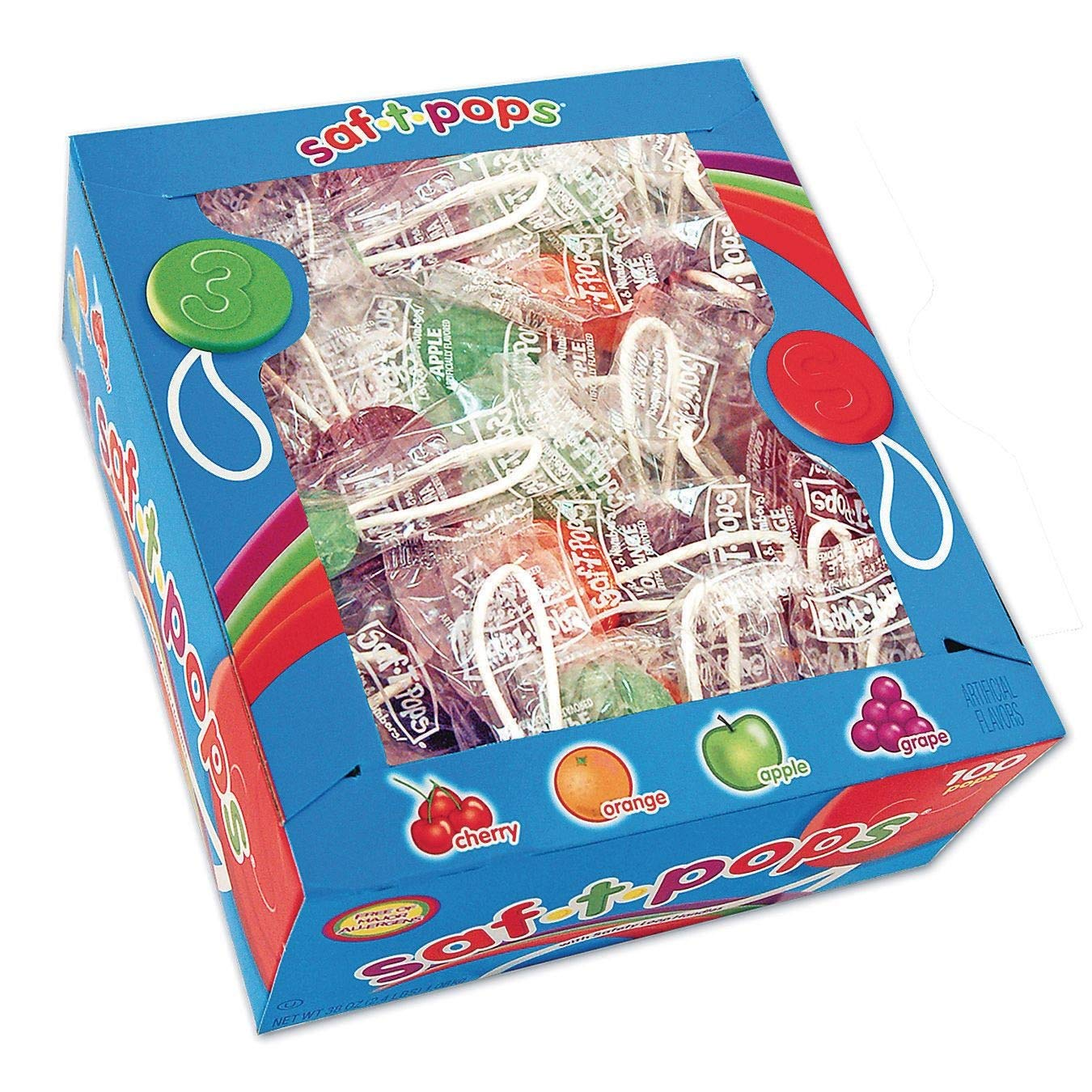 Saf-T-Pops 100 ct box - assorted flavors by Saf-T-Pops