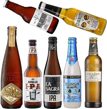 Pack de Cervezas de Coleccion - Cerveza Casimiro, Cerveza Malquerida, Ambar IPA Cerveza, Delirium Tremens Cerveza, La Sagra IPA Cerveza, AK Damm Cerveza, Cubanisto Cerveza - Envío en 24/48h asegurado: Amazon.es: Alimentación