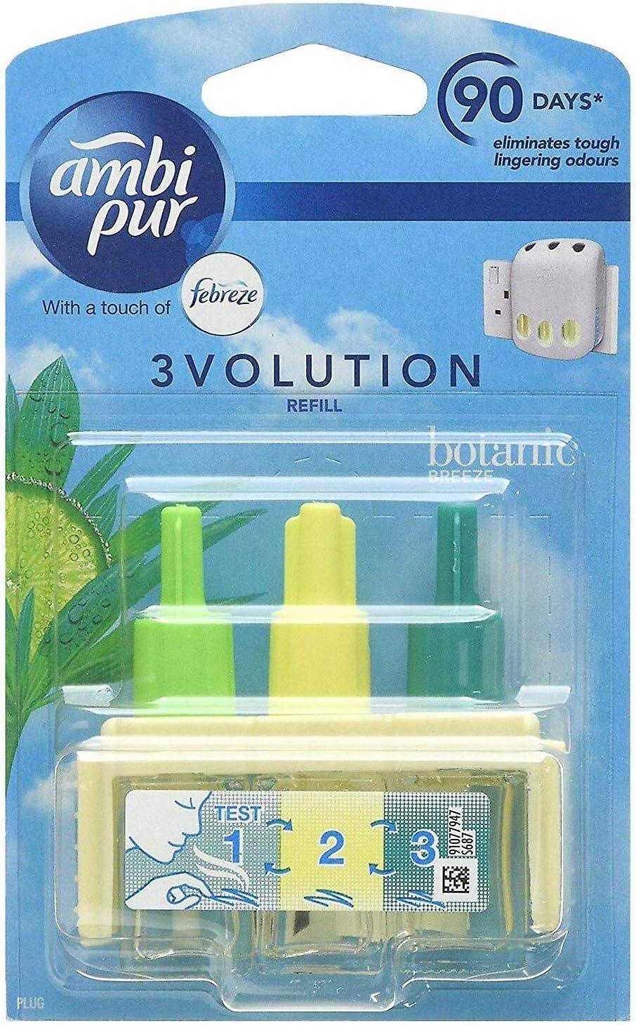 Ambi Pur 6er Pack 3volution Elektrische Nachfüllung Für Lufterfrischer Botanic Breeze 20 Ml Drogerie Körperpflege