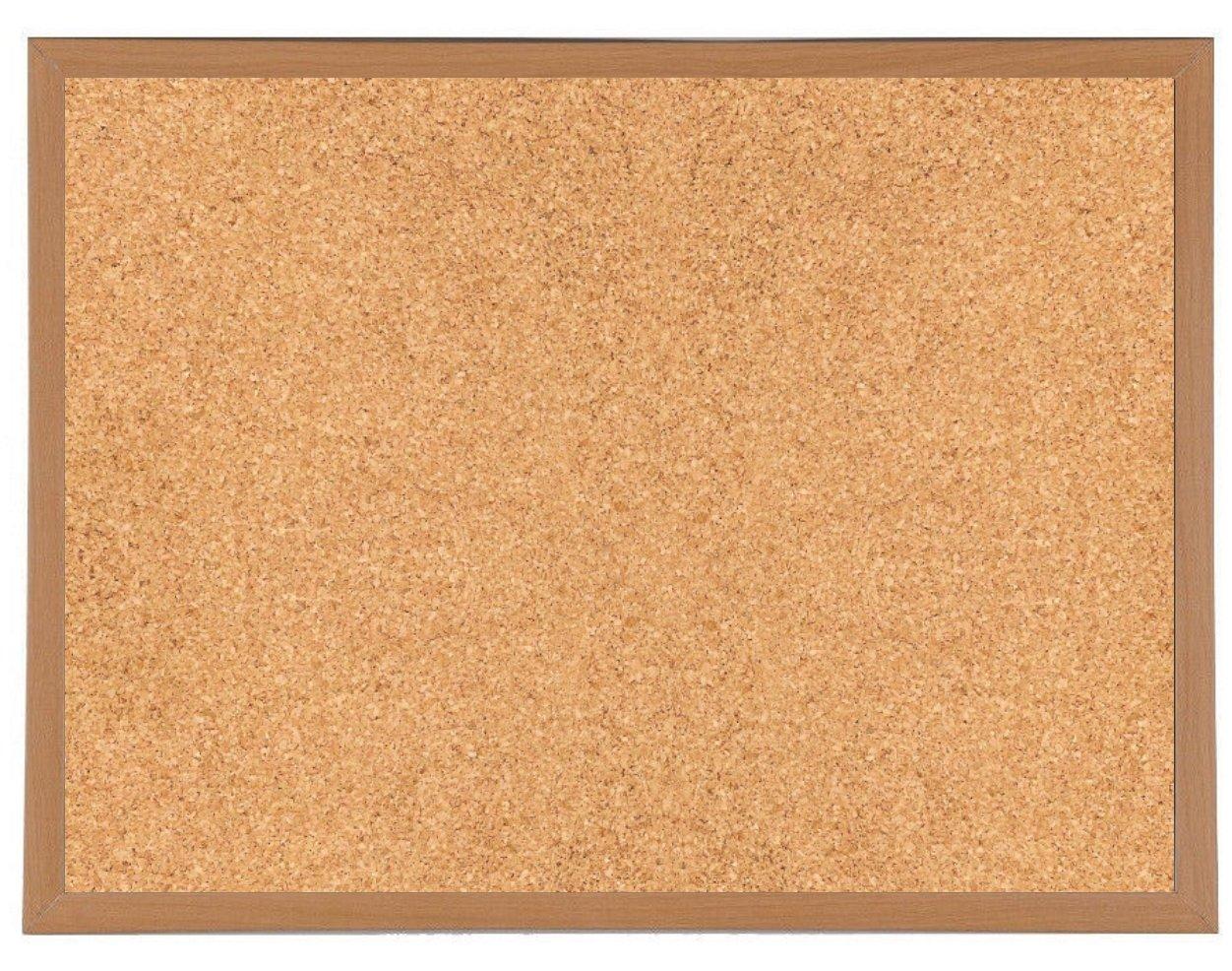 Bacheca in sughero con cornice extra-robusta in legno, per fissare annotazioni e messaggi, 600 x 400 mm Quickdraw