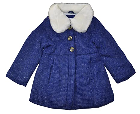 23f927bb2e94 Amazon.com  Carter s Little Girls  Navy Blue Faux Wool Coat  Clothing