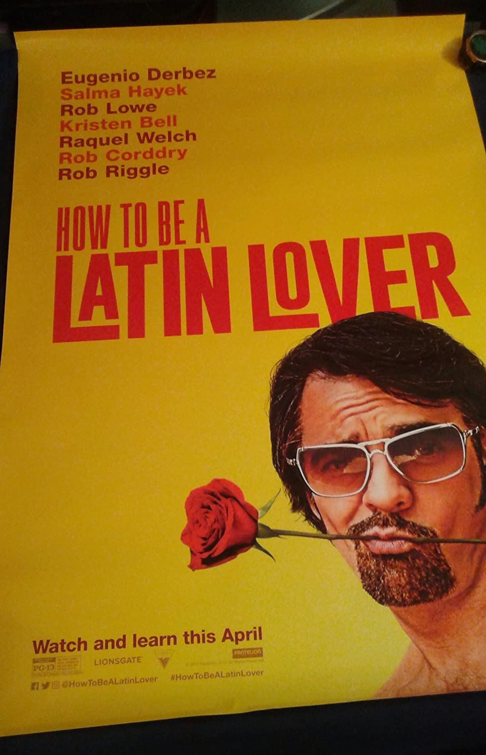 Amazon : How To Be A Latin Lover (2017) Original Authentic Movie Poster  27x40