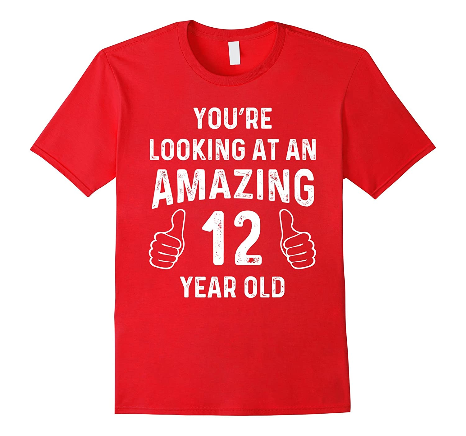 Amazing 12th Birthday Gift Funny 12 Year Old Bday Joke Shirt-FL