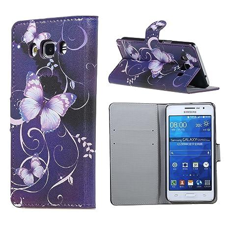 Dooki, Galaxy J5 2016 - Carcasa, Flip Piel Supporter protectora funda carcasa tipo Cartera para Samsung Galaxy J5 2016 con crédito Tarjeta hendidura