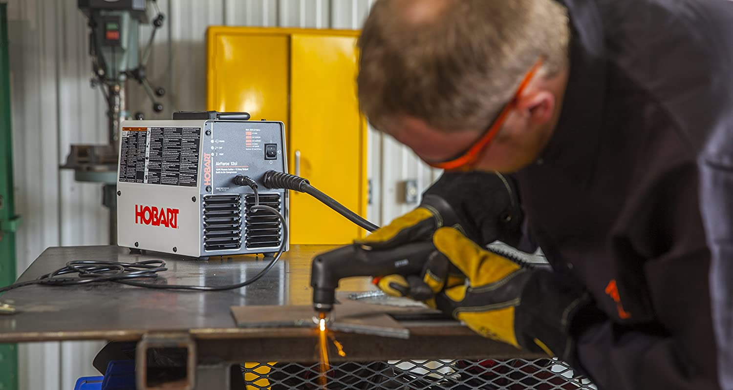 Hobart 500564 Airforce 12ci Plasma Cutter with Built-In Air Compressor 120V