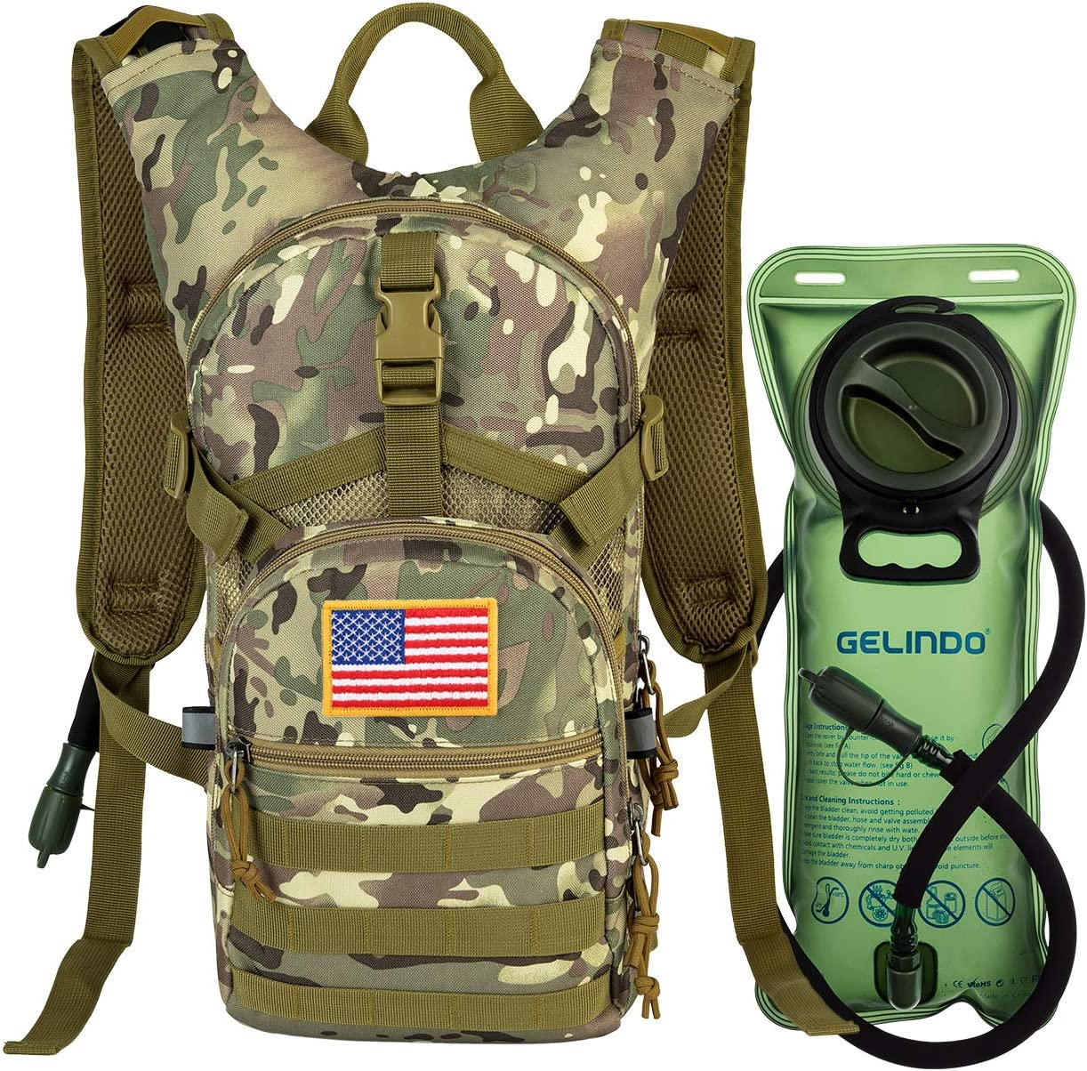 Gelindo Military Tactical Hydration Backpack