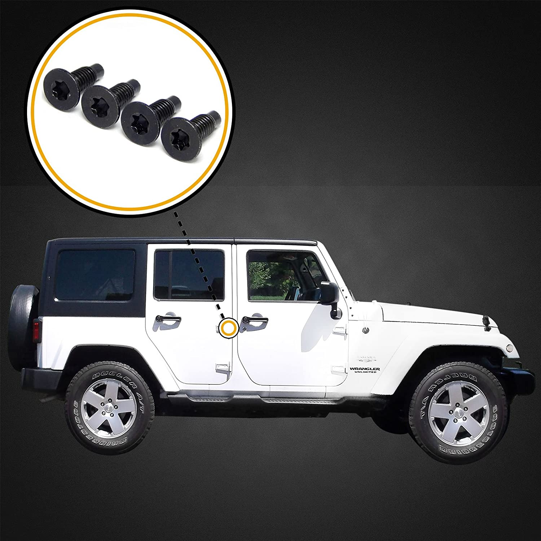 Red Hound Auto 16 Compatible with Jeep Wrangler CJ 76-86 YJ 87-95 TJ 97-06 Windshield Frame//Hinge Torx Screws