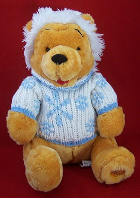 776b4039b8f Image Unavailable. Image not available for. Color  Disney Store Exclusive Winter  Winnie the Pooh White Sweater and Hat ...