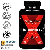 Brucia grassi potente per dimagrire. Integratore sportivo per dimagrire Fat Burner di Navit Plus EXTREME.Termogenico potente, brucia grassi, naturale. 120 pillole vegetali di potente termogenico.