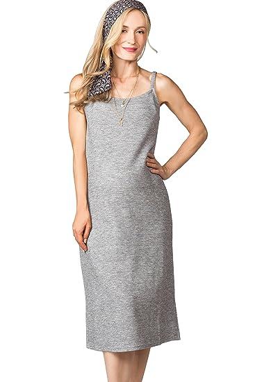 a5ecf75a6af Sweet Mommy Maternity and Nursing Fur Fleece Lined Pinafore Dress Moku  Gray