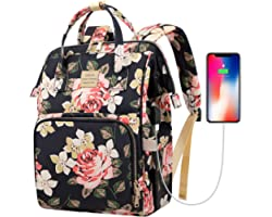 Laptop Backpack,15.6 Inch Stylish College School Backpack with USB Charging Port,Water Resistant Casual Daypack Laptop Backpa