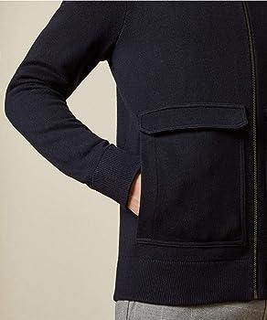 Ted Baker Men's Wool Blend Zip Through Newrule Cardigan Navy