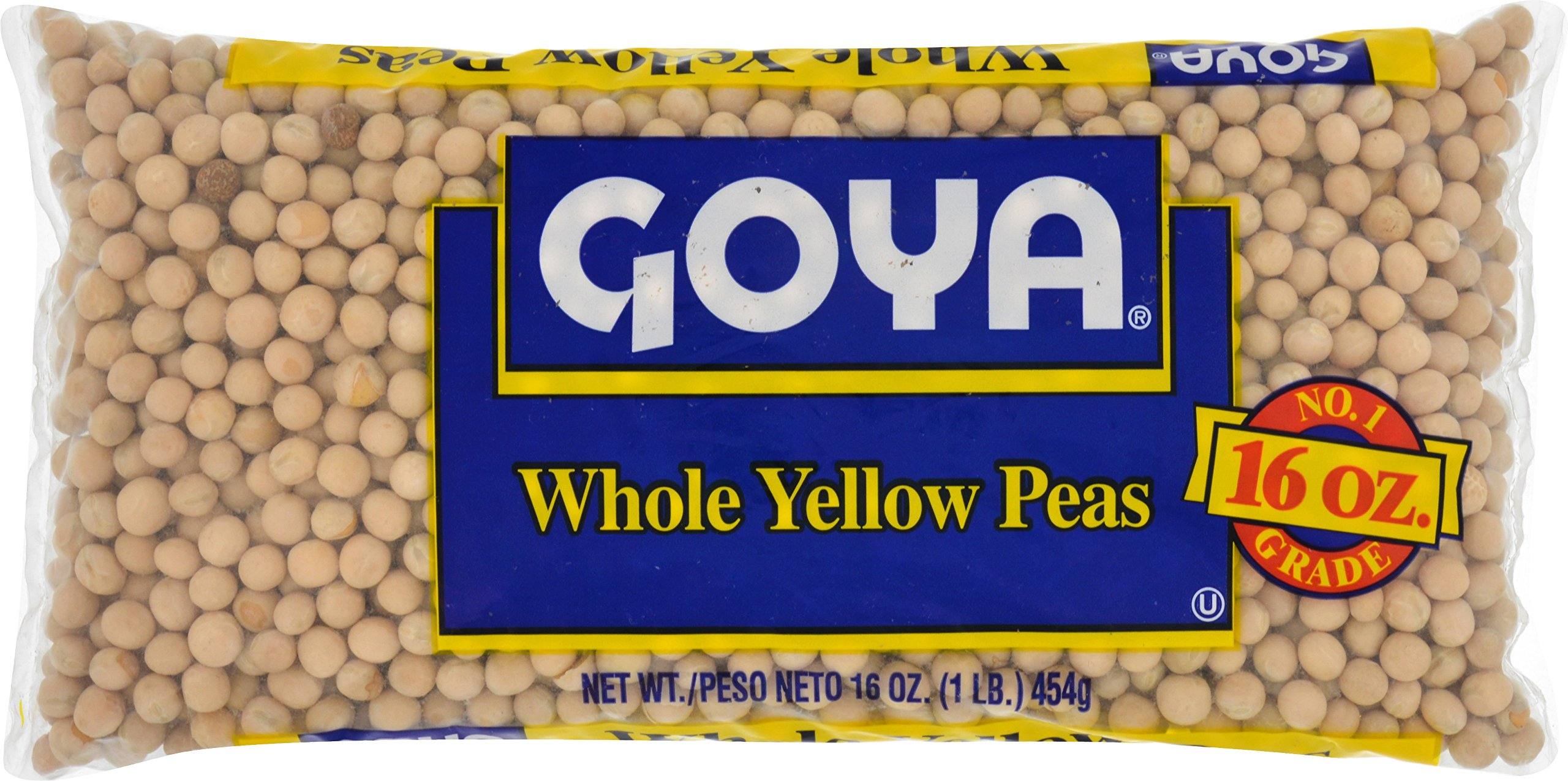 Goya Foods Dry Whole Yellow Peas Bag, 1 Pound (Pack of 24)