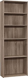 Monarch Specialties BOOKCASE-72 H/DARK TAUPE WITH 5 SHELVES Bookcase, Brown