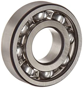 FAG 6313-C3 Deep Groove Ball Bearing, Single Row, Open, Steel Cage, C3 Clearance, Metric, 65mm ID, 140mm OD, 33mm Width, 11000 rpm Maximum Rotational Speed, 9300 lbf Static Load Capacity, 13400 lbf Dynamic Load Capacity