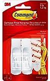 Command Utility Hooks, Medium, White, 2-Hooks (17001ES), Organize and decorate your dorm