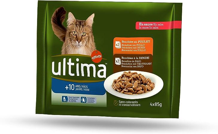 Ultima Multipack Comida para Gatos para La Tercera Edad 10 Años A ...