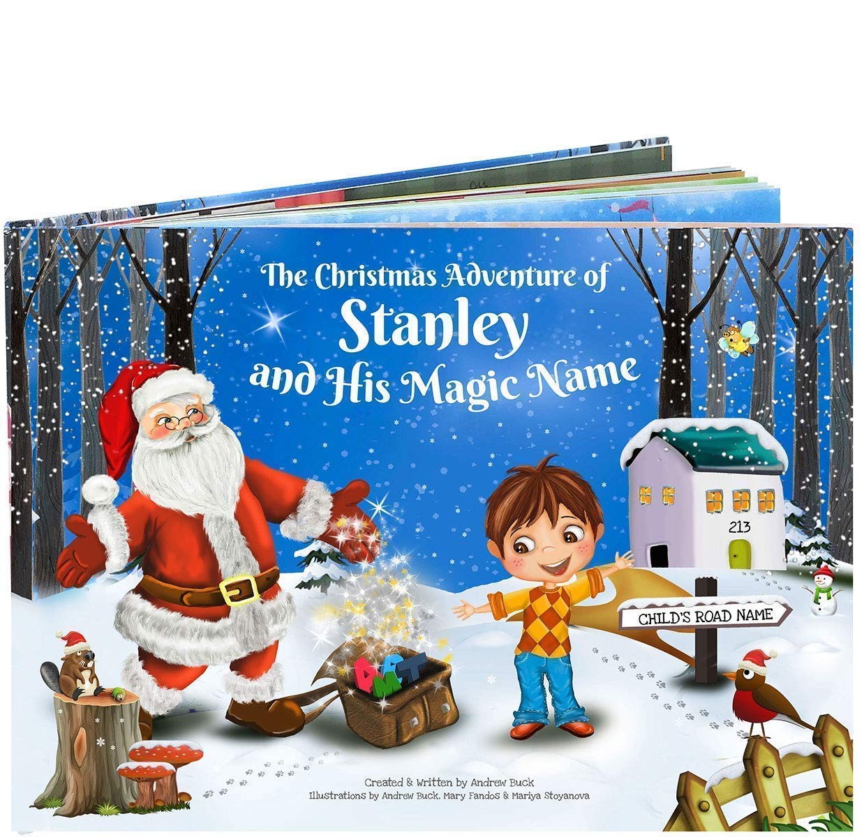 A Gift For Christmas Story.Magical Personalised Christmas Story Book Every Child S Name Creates A Totally Unique Story Great Xmas Gift Stocking Filler