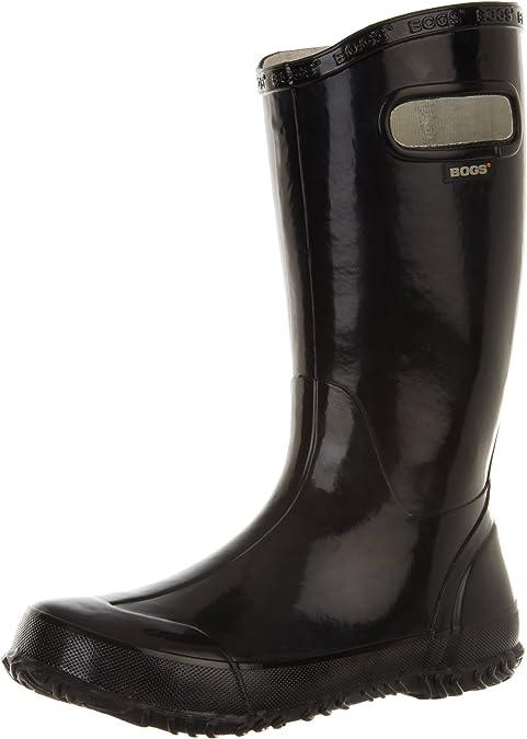 Bogs Womens Rainboot Waterproof Boot,Black,6 M US