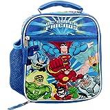 DC Super Friends Boys Soft Insulated School Lunch Box (One Size, Blue/Multi)