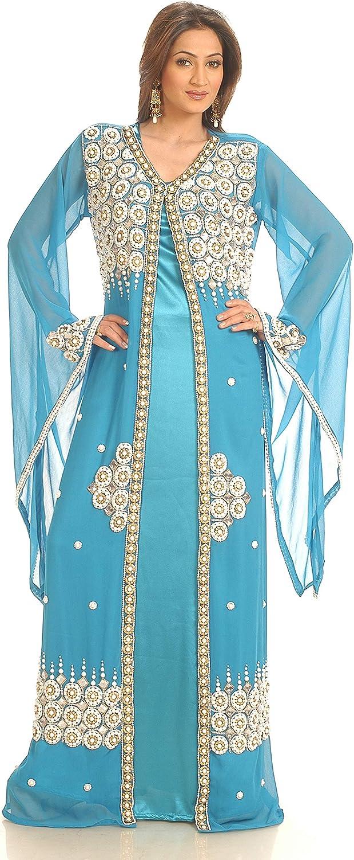 Sale ! Dubai Moroccan Try This Caftan Farasha Floor Length Abaya dress jilbab kaftan abaya Maxi Kaftan Embroidery Arabian Fancy Long Gown
