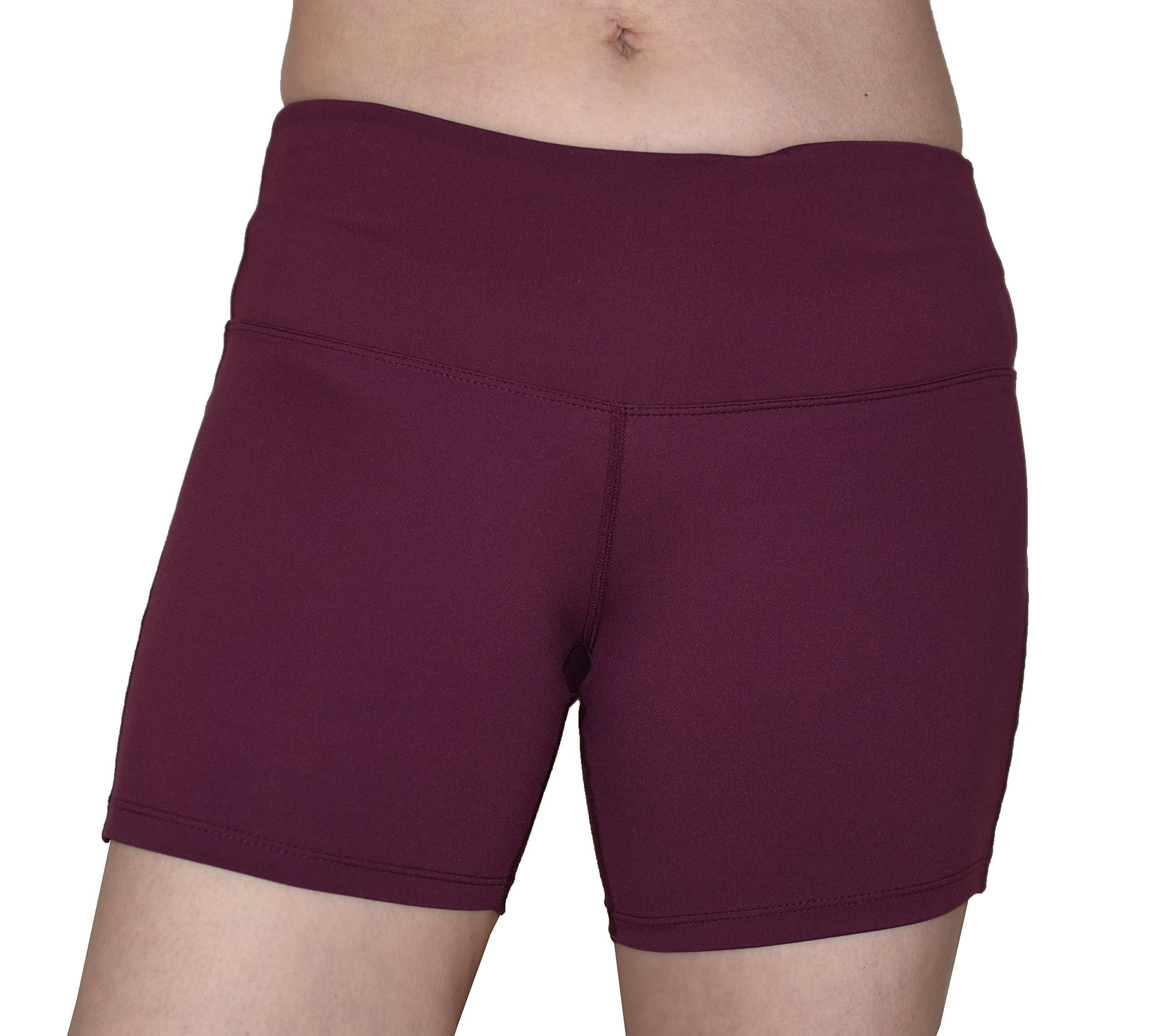 Private Island Women UV Swim Rash Guard Pockets Shorts Pants Yoga (XXL, DWine) by Private Island