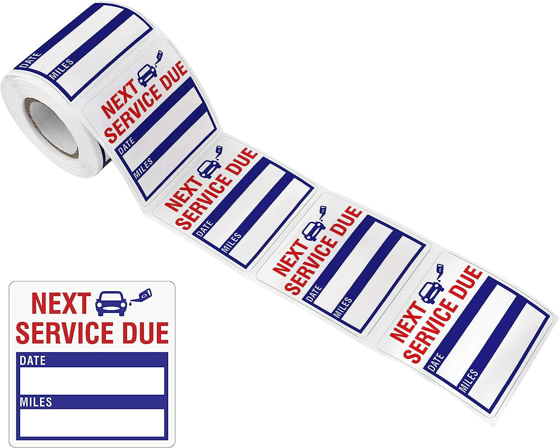 250 Per Roll Service Reminder Stickers