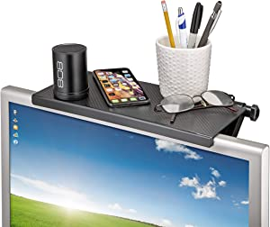 Screen Caddy, TV Shelf, Mountable Monitor/TV/Screen Top Shelf, TV Tray, Shelf Monitor Mount Organizer, Media Device Storage Shelf