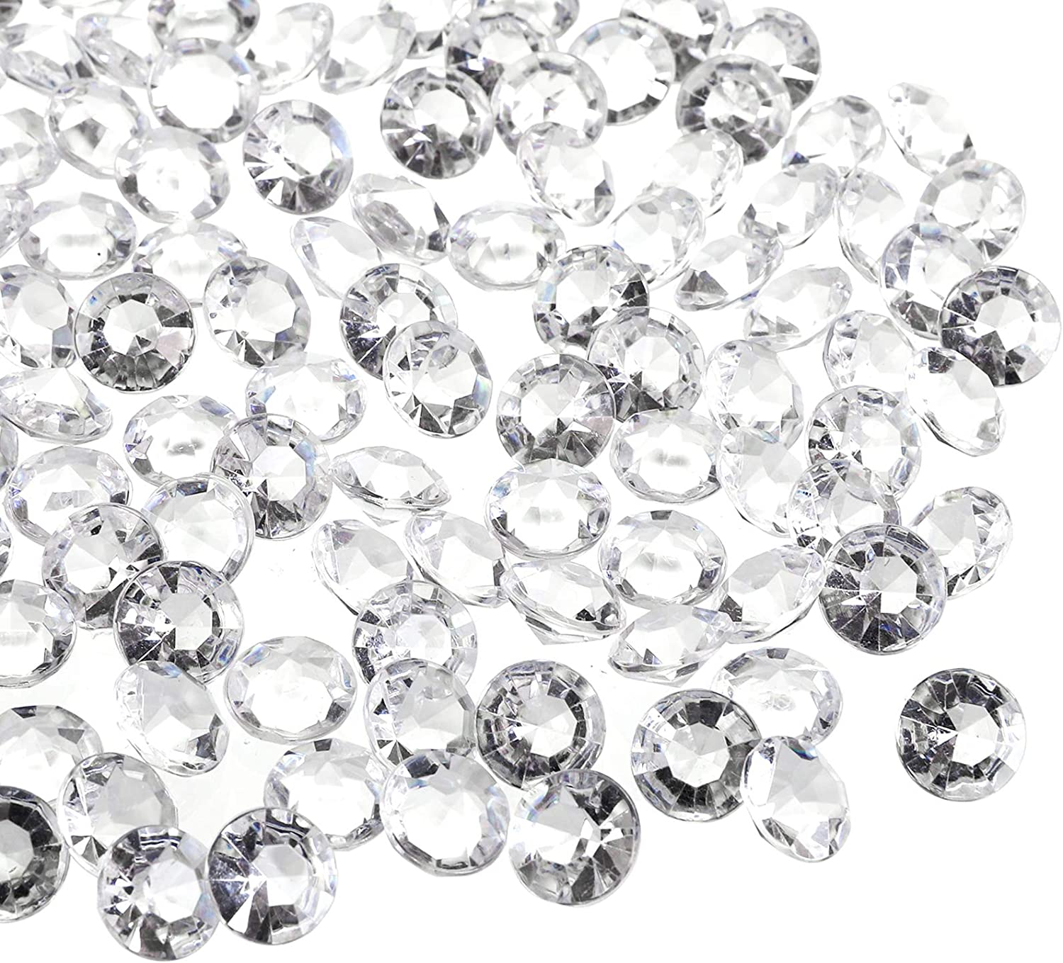 Bridal Shower Vase Beads Decorations Hedume 4200pcs Clear Wedding Table Scattering Crystals 0.4inch Acrylic Diamonds Gemstones for Wedding