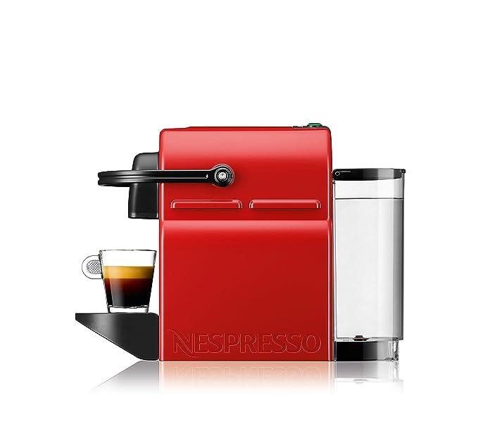 Krups Nespresso Inissia Rouge YY1531FD Independiente Máquina de café en cápsulas 0.7L Negro, Rojo - Cafetera (Independiente, Máquina de café en cápsulas, ...